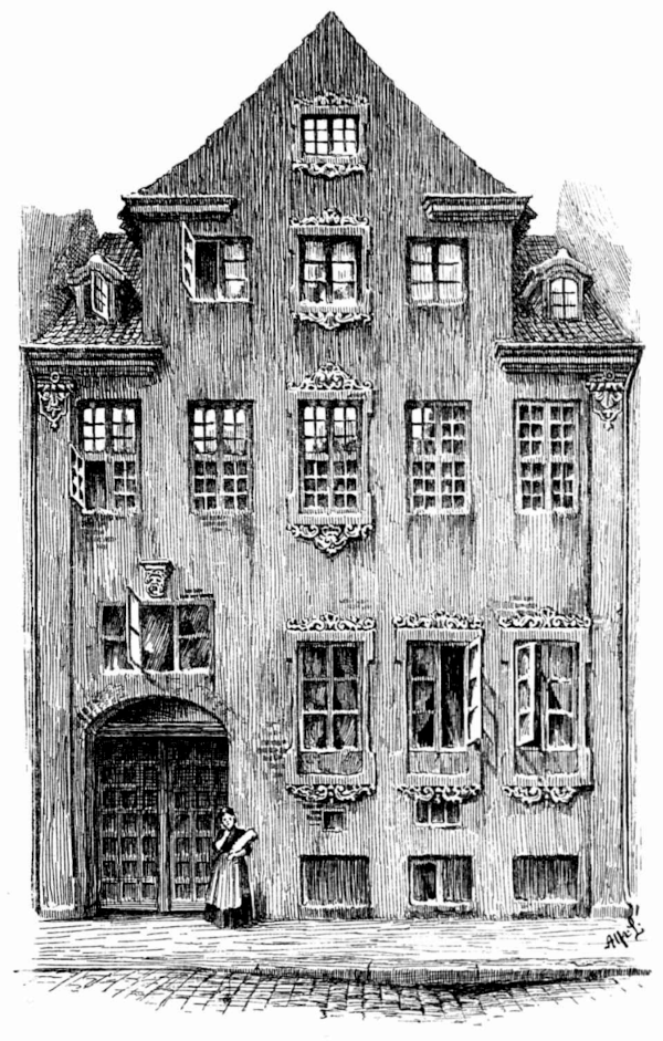 Stregtegning af bygningen Åbenra 25