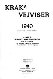 Kraks Vejvisere 1920 1944 Kobenhavns Biblioteker