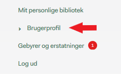 Viser hvor man finder brugerprofil