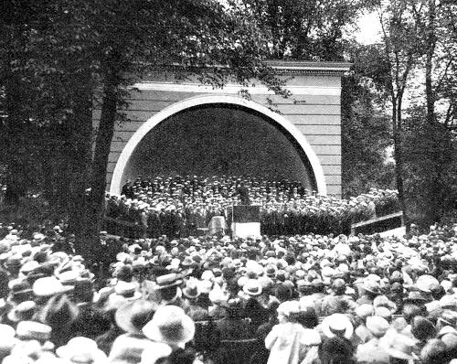 Koncert i Rosenborg Have, 1919.