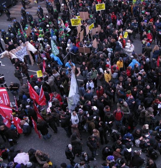 billede af klimademonstration