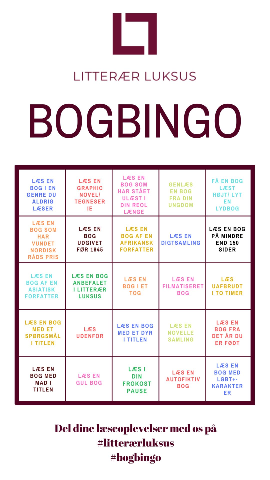 Litterær Luksus Bogbingo-plade
