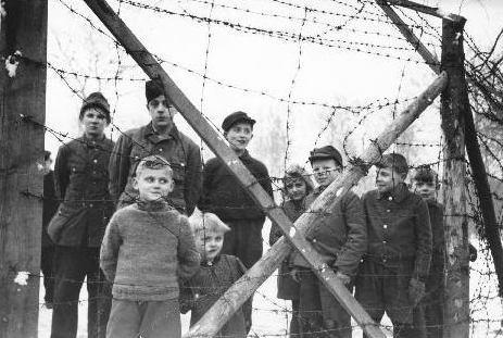Billede af tysk flygtningelejr i Danmark