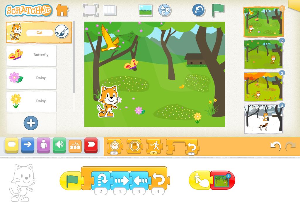 ScratchJr - gratis app for de 5-7 årige