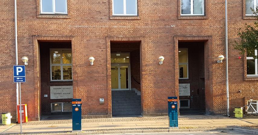 Facaden Vesterbro Bibliotek og Kulturhus