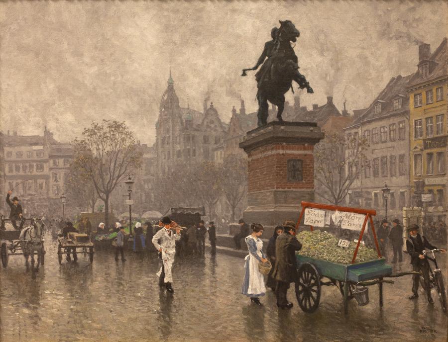 Maleri af Højbro Plads
