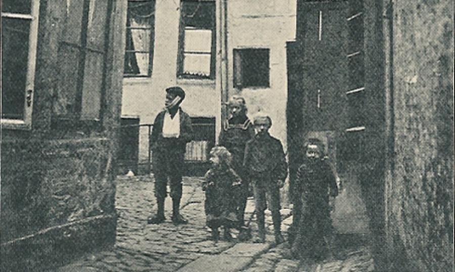 Baggård i København omkring år 1900, Alb. Gnudtzmann & Helmer Lind