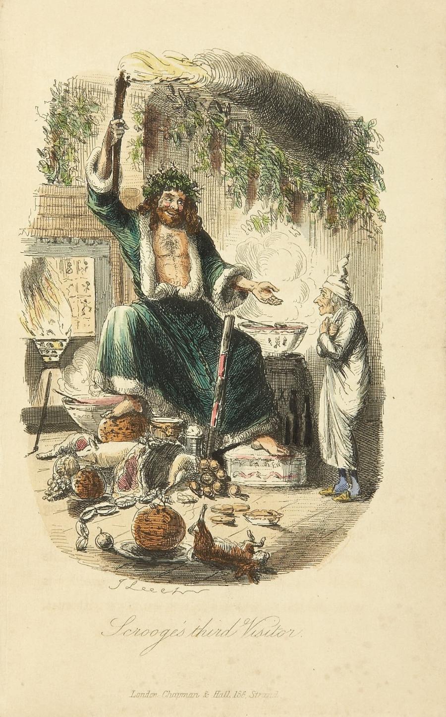 Original illustration af  John Leech fra Charles Dickens' 'A Christmas Carol'