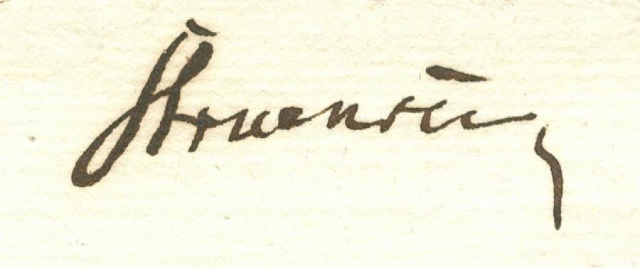 Struensees underskrift